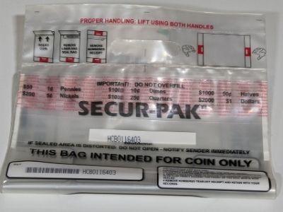 2-Handle Plastic Self Seal Coin Bag Image